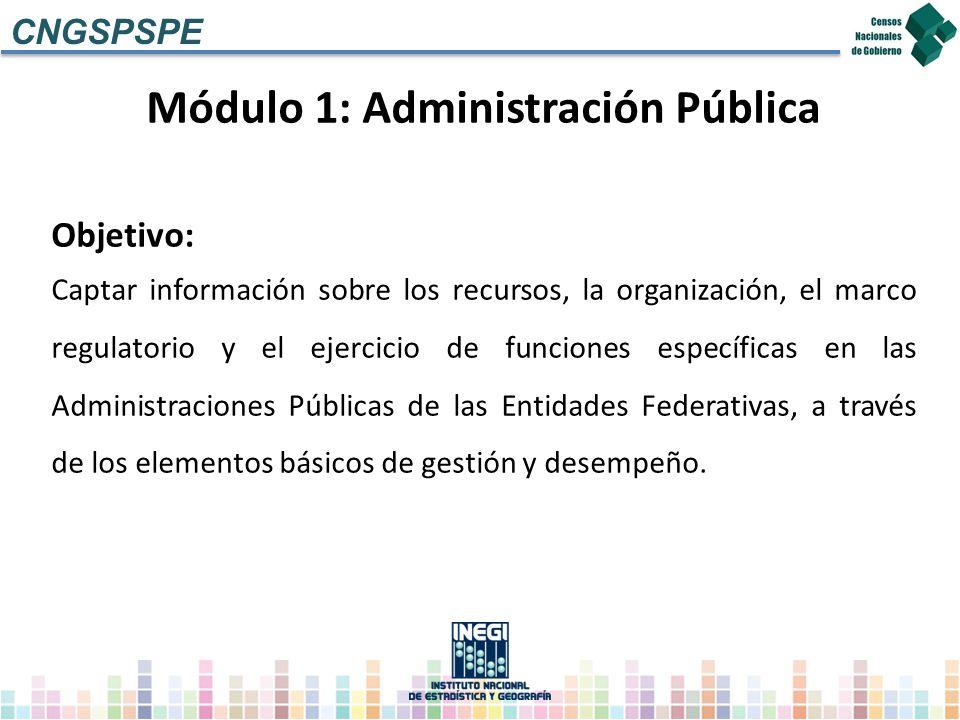 Módulo 1: Administración Pública