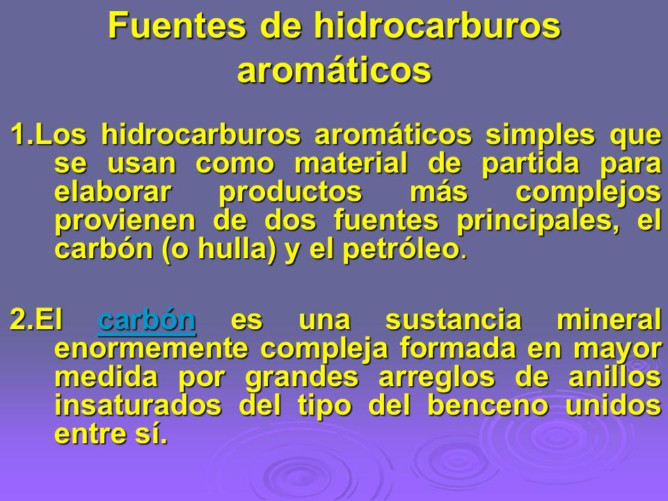 Fuentes de hidrocarburos aromáticos