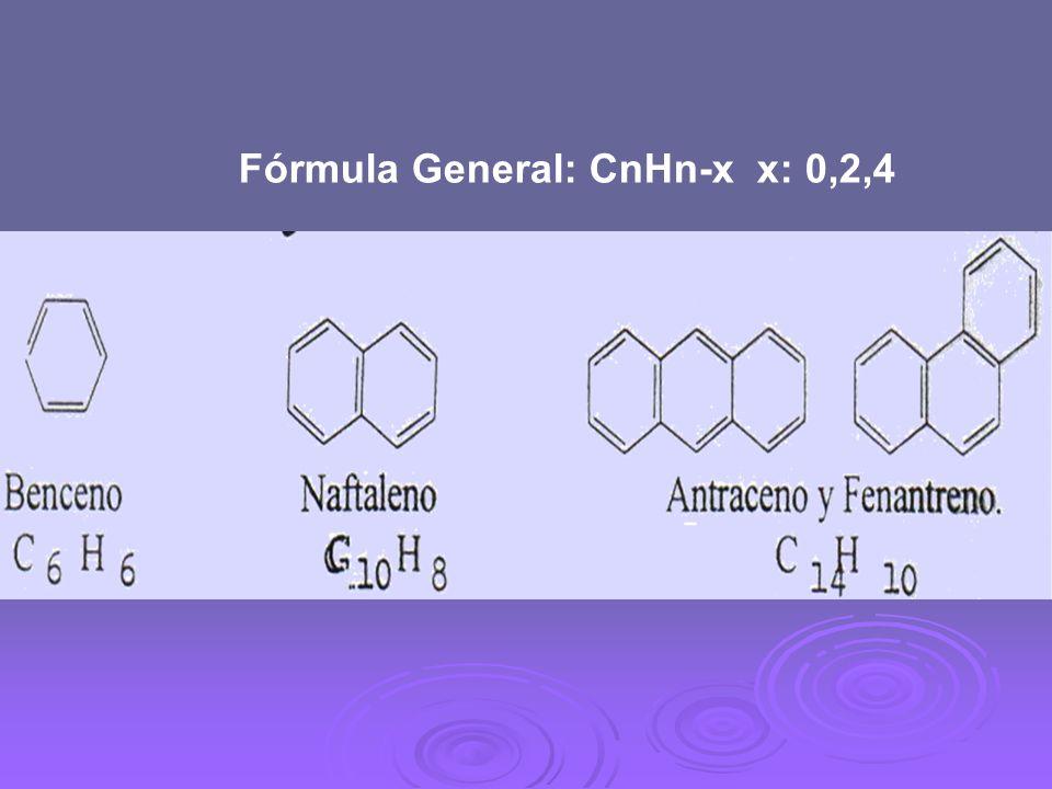 Fórmula General: CnHn-x x: 0,2,4