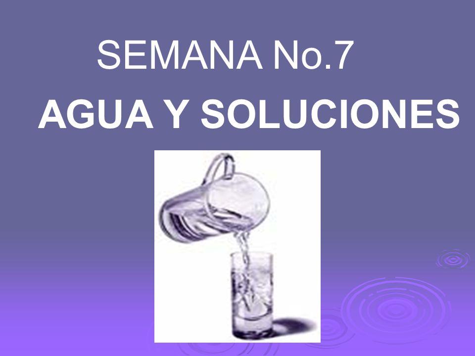 SEMANA No.7 AGUA Y SOLUCIONES