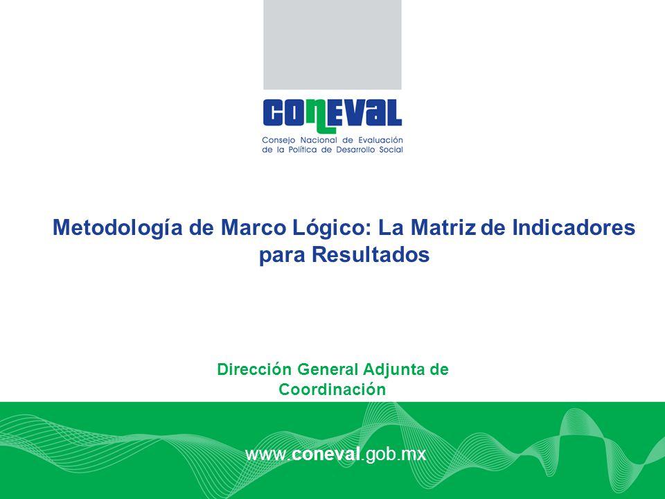 Metodología de Marco Lógico: La Matriz de Indicadores para Resultados