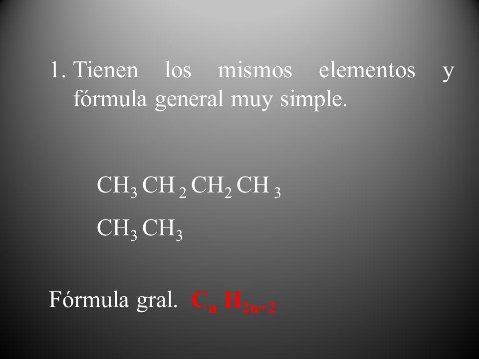 Tienen los mismos elementos y fórmula general muy simple.