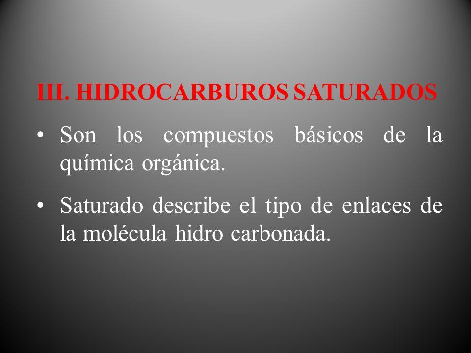 III. HIDROCARBUROS SATURADOS