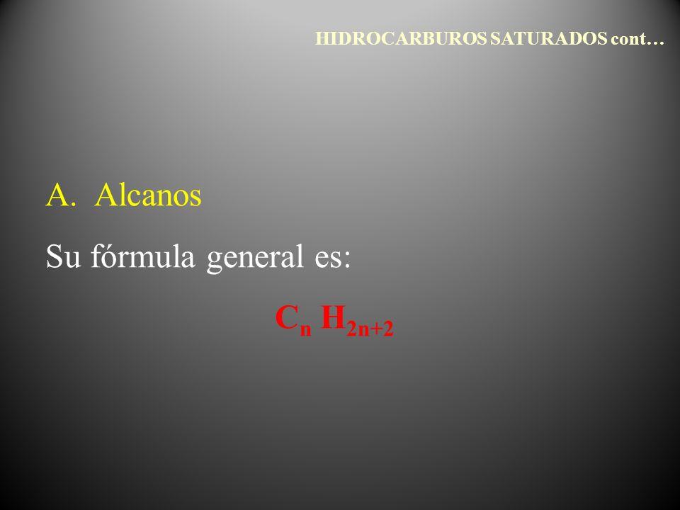 HIDROCARBUROS SATURADOS cont…
