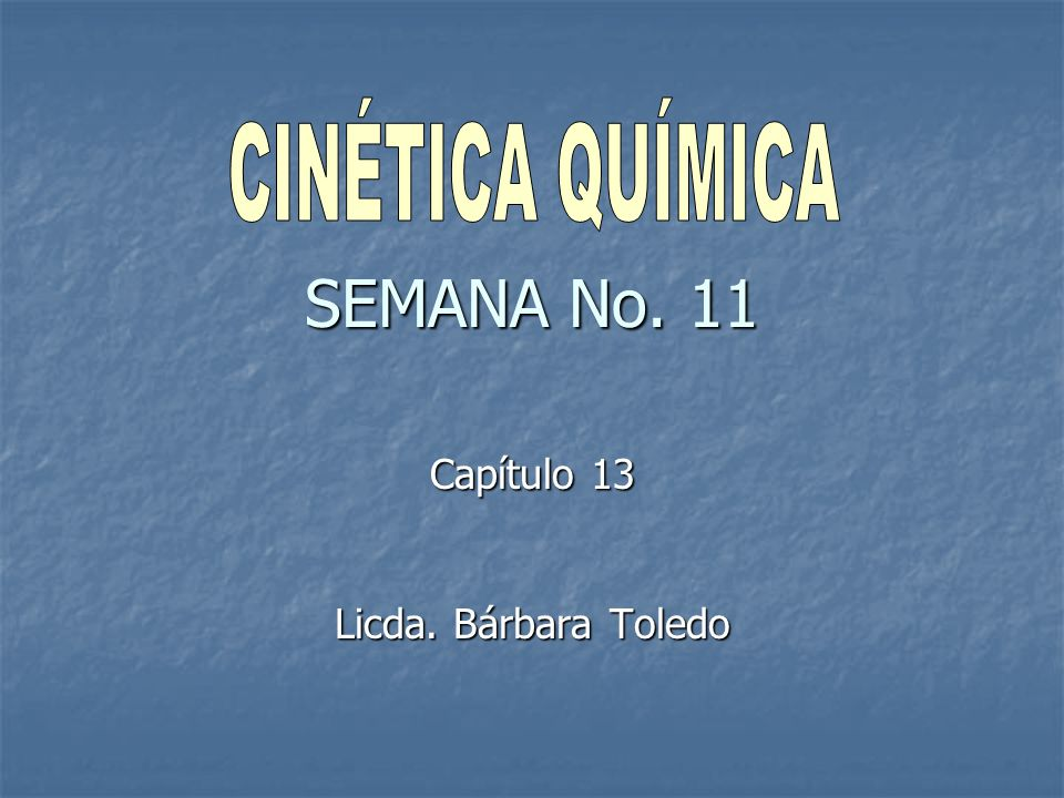 Capítulo 13 Licda. Bárbara Toledo