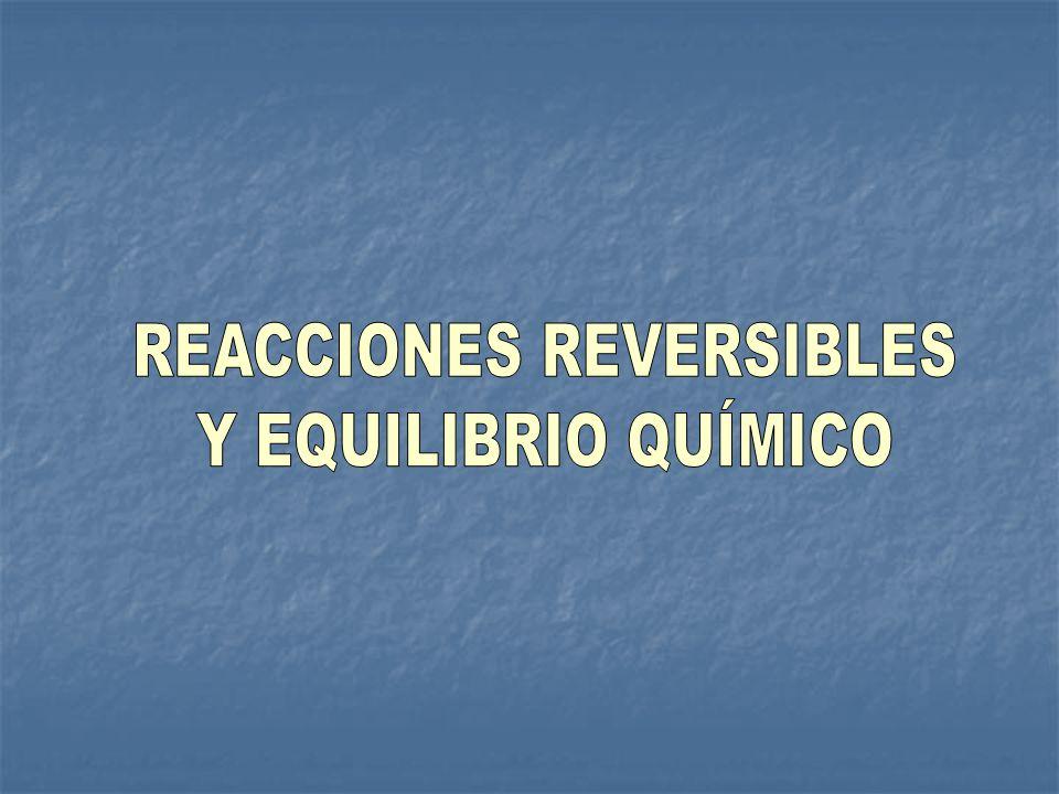 REACCIONES REVERSIBLES