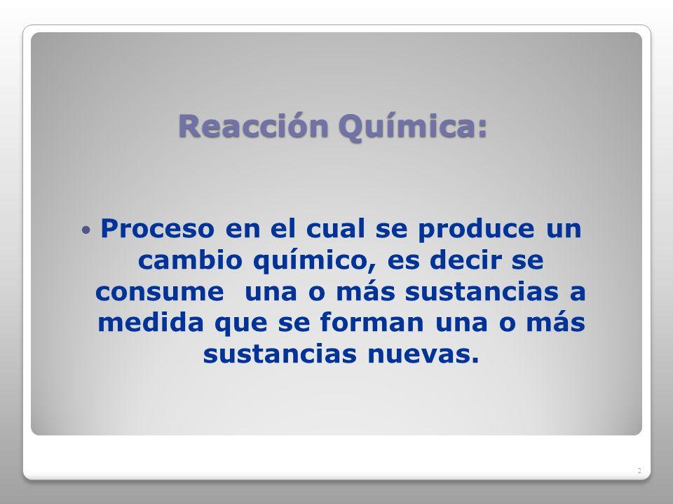 Reacción Química: