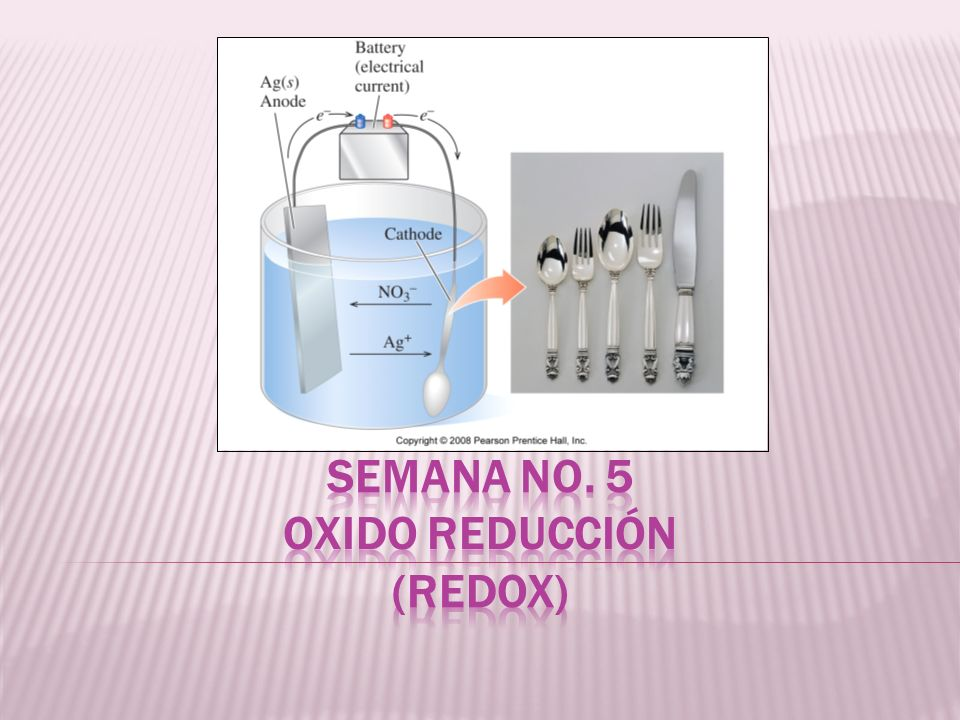 Semana No. 5 OXIDO REDUCCIÓN (REDOX)