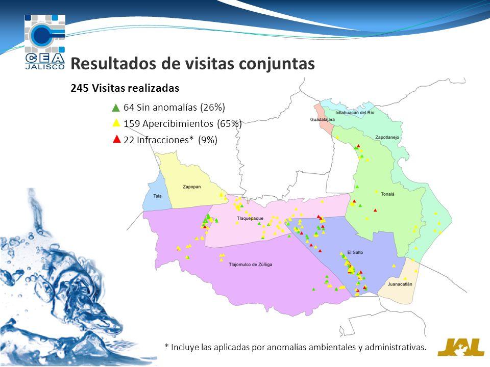Resultados de visitas conjuntas