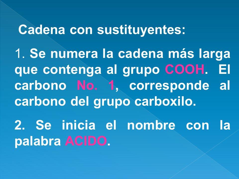 Cadena con sustituyentes:
