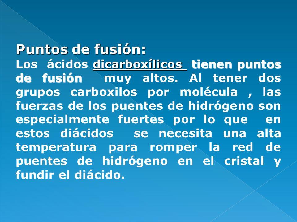 Puntos de fusión: