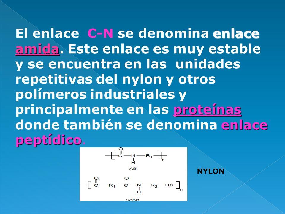 El enlace C-N se denomina enlace amida