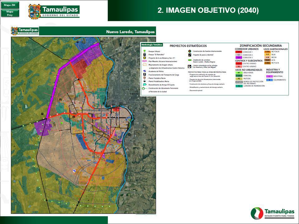 Mapa ZM 2. IMAGEN OBJETIVO (2040) Mapa Proy
