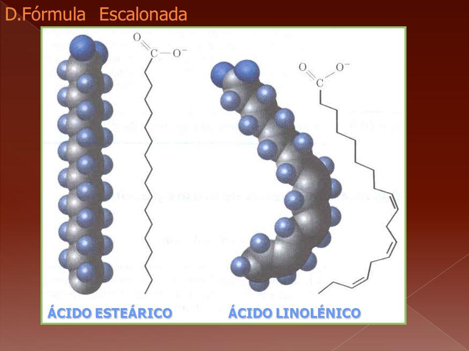 D.Fórmula Escalonada ÁCIDO ESTEÁRICO ÁCIDO LINOLÉNICO