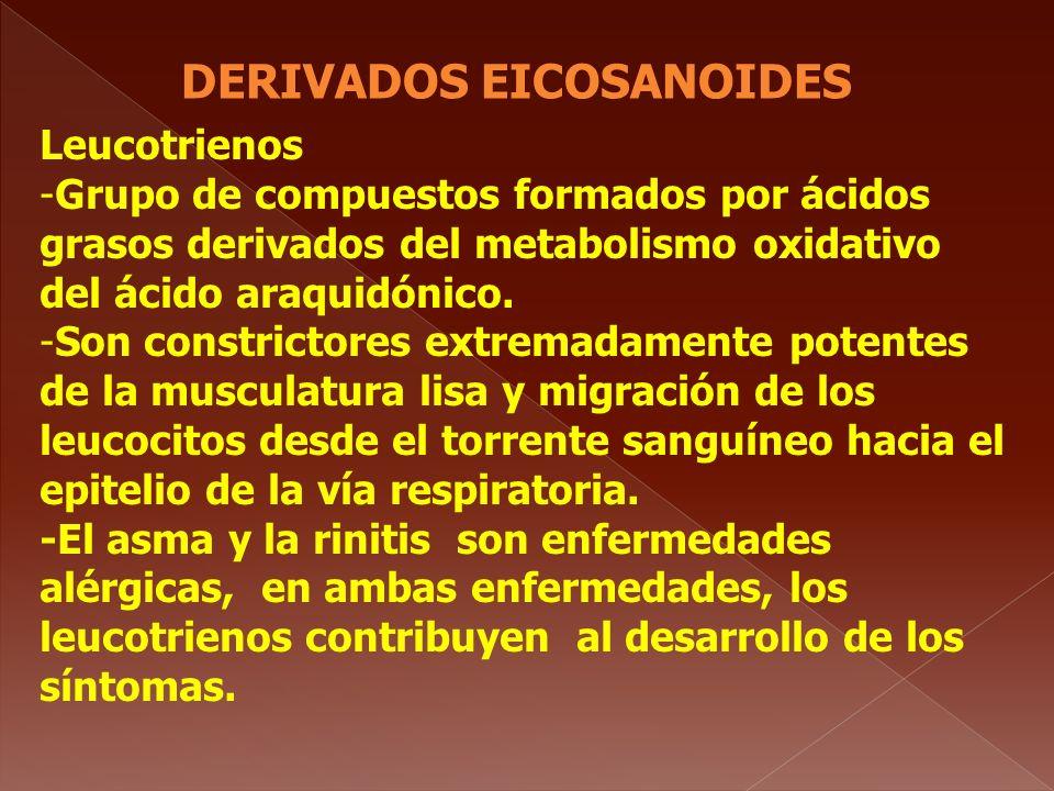 DERIVADOS EICOSANOIDES