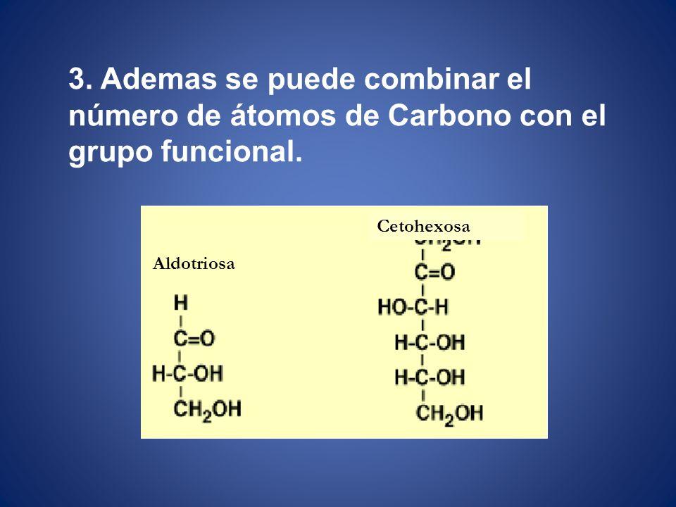 3. Ademas se puede combinar el número de átomos de Carbono con el grupo funcional.