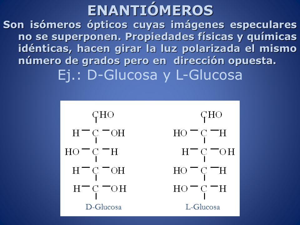 Ej.: D-Glucosa y L-Glucosa