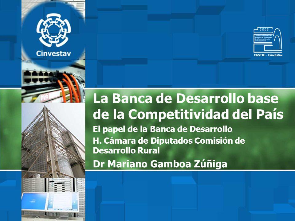 La Banca de Desarrollo base de la Competitividad del País