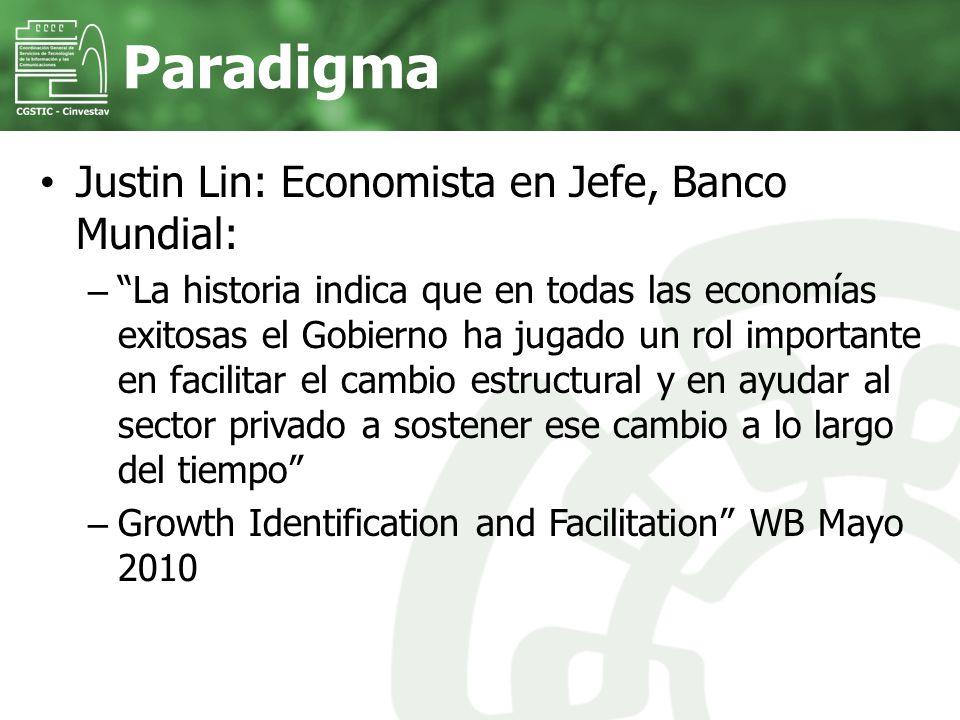 Paradigma Justin Lin: Economista en Jefe, Banco Mundial: