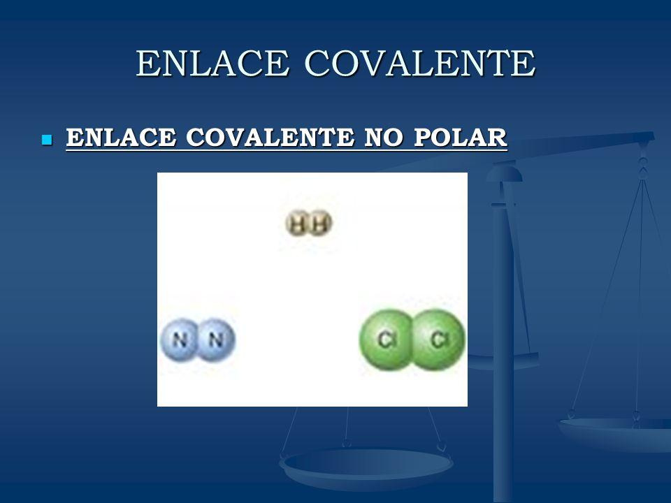ENLACE COVALENTE ENLACE COVALENTE NO POLAR