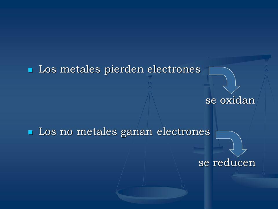 Los metales pierden electrones