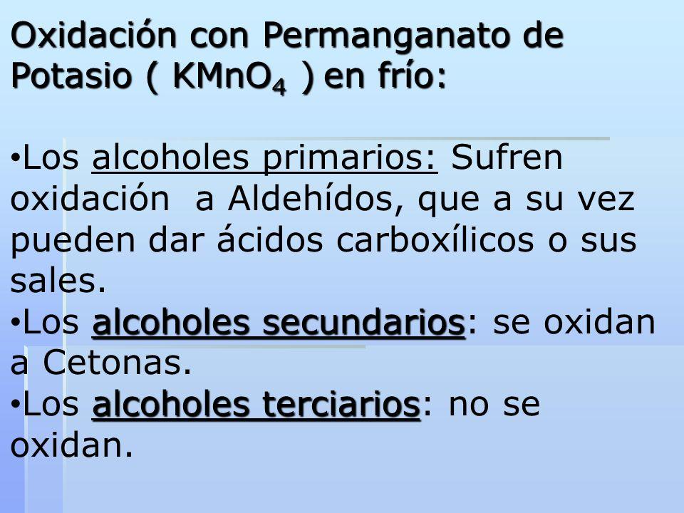 Oxidación con Permanganato de Potasio ( KMnO4 ) en frío: