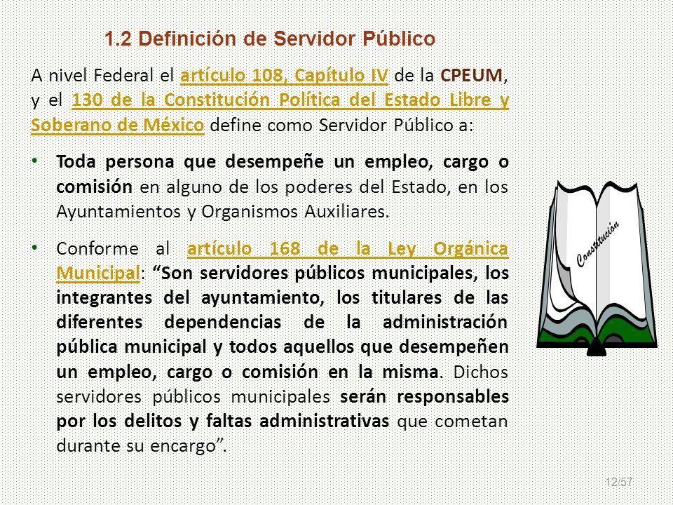 1.2 Definición de Servidor Público