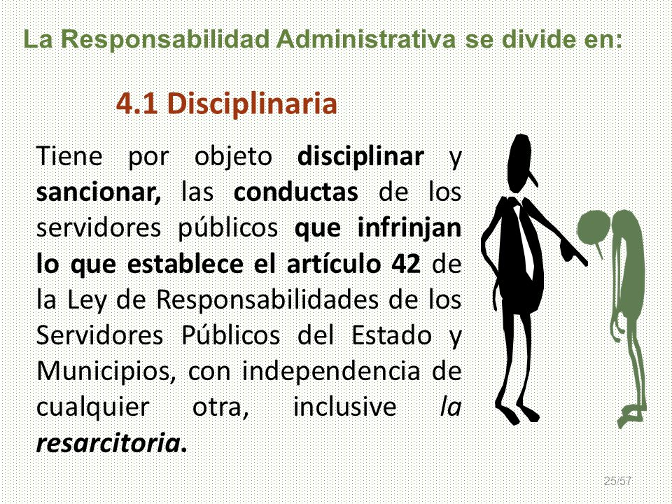 La Responsabilidad Administrativa se divide en:
