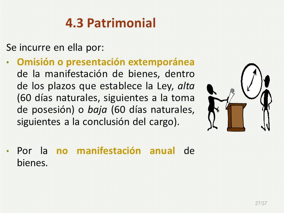 4.3 Patrimonial Se incurre en ella por: