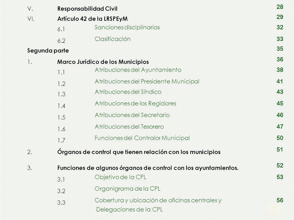 Responsabilidad Civil 28 VI. Artículo 42 de la LRSPEyM 29 6.1