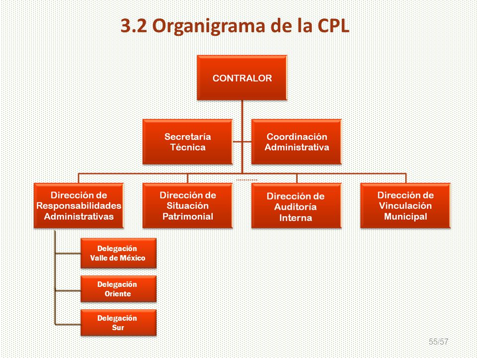 3.2 Organigrama de la CPL Delegación Valle de México Oriente Sur