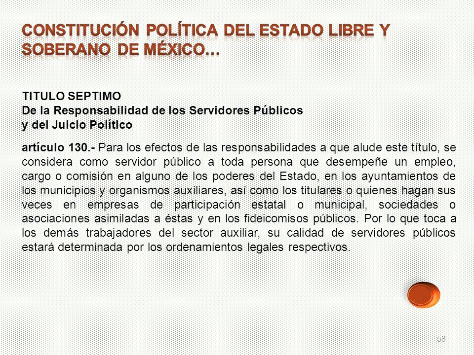 Constitución política del ESTADO LIBRE Y SOBERANO DE MÉXICO…