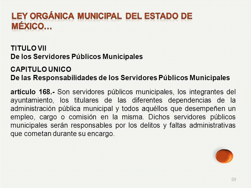 LEY ORGÁNICA MUNICIPAL DEL ESTADO DE MÉXICO…