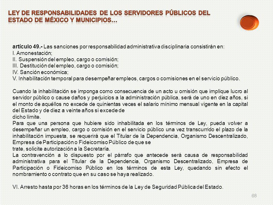 LEY DE RESPONSABILIDADES DE LOS SERVIDORES PÚBLICOS DEL ESTADO DE MÉXICO Y MUNICIPIOS…