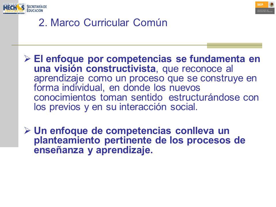 2. Marco Curricular Común