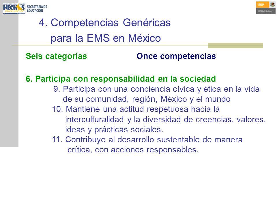 4. Competencias Genéricas para la EMS en México