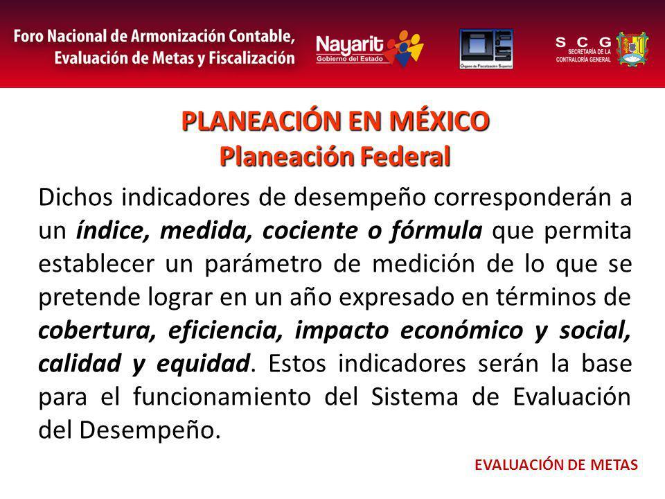 PLANEACIÓN EN MÉXICO Planeación Federal