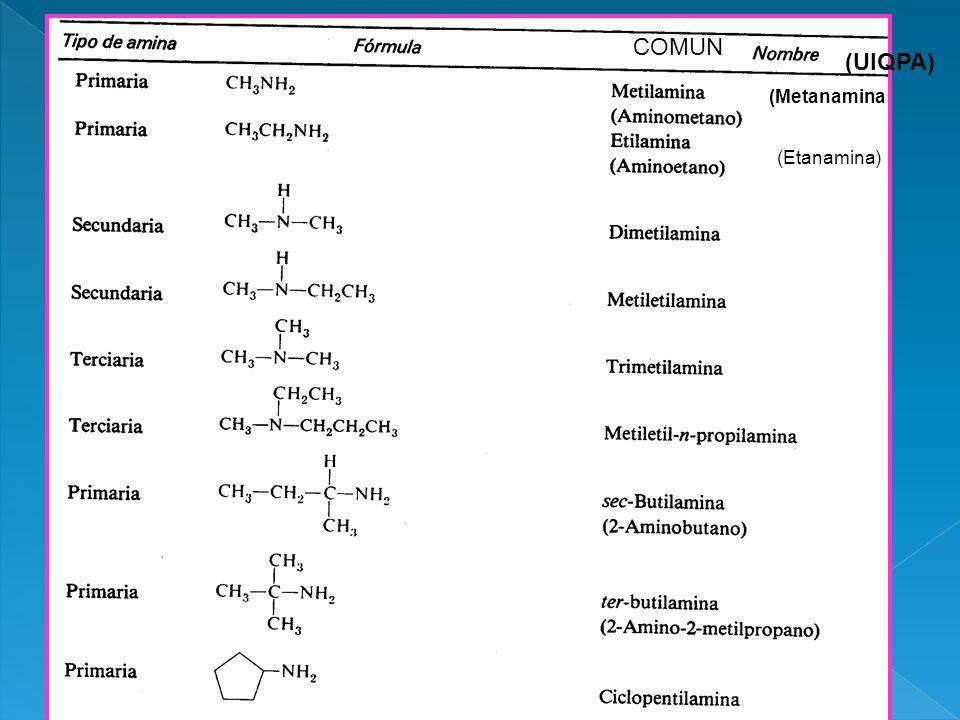 COMUN (UIQPA) (Metanamina (Etanamina)