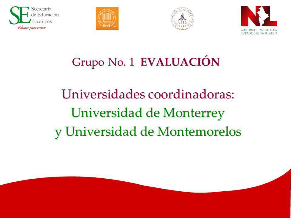 Universidades coordinadoras: Universidad de Monterrey
