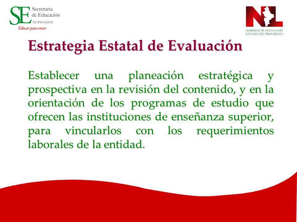 Estrategia Estatal de Evaluación