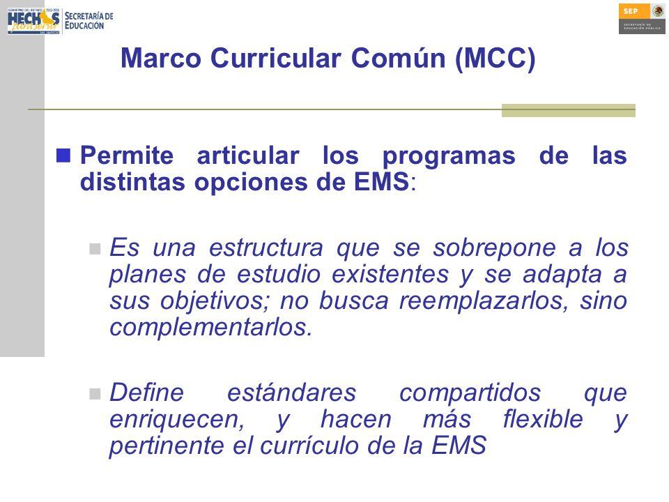 Marco Curricular Común (MCC)