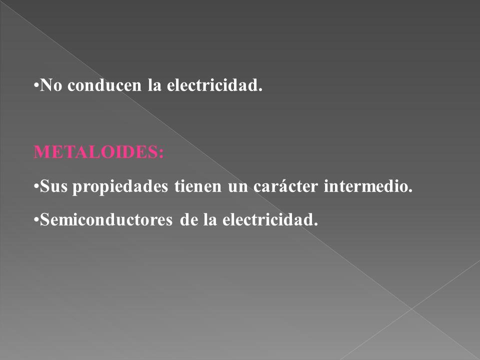 No conducen la electricidad.