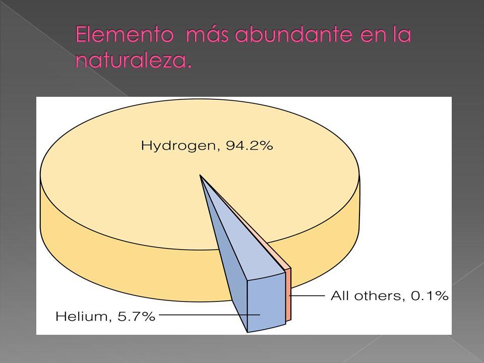 Elemento más abundante en la naturaleza.