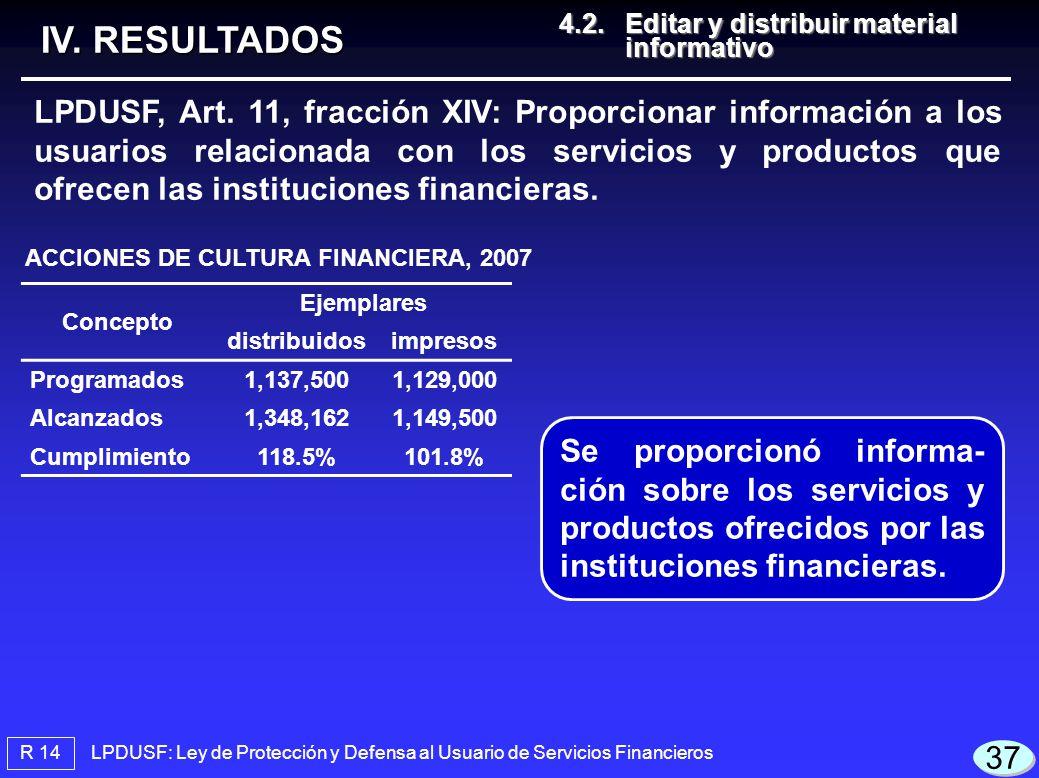 ACCIONES DE CULTURA FINANCIERA, 2007