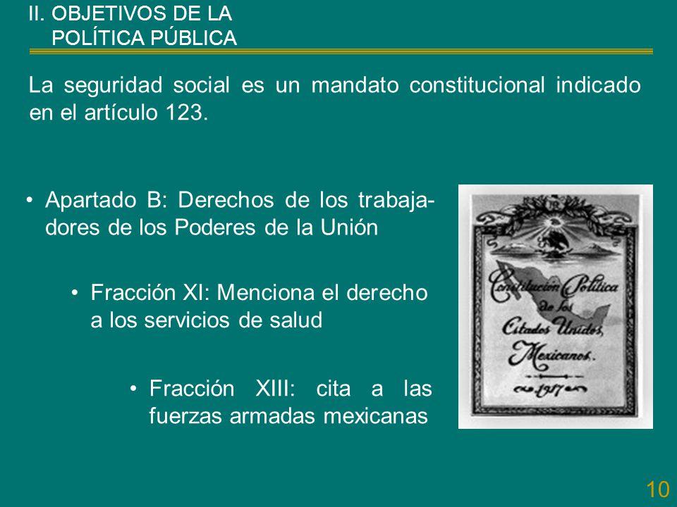 Apartado B: Derechos de los trabaja-dores de los Poderes de la Unión