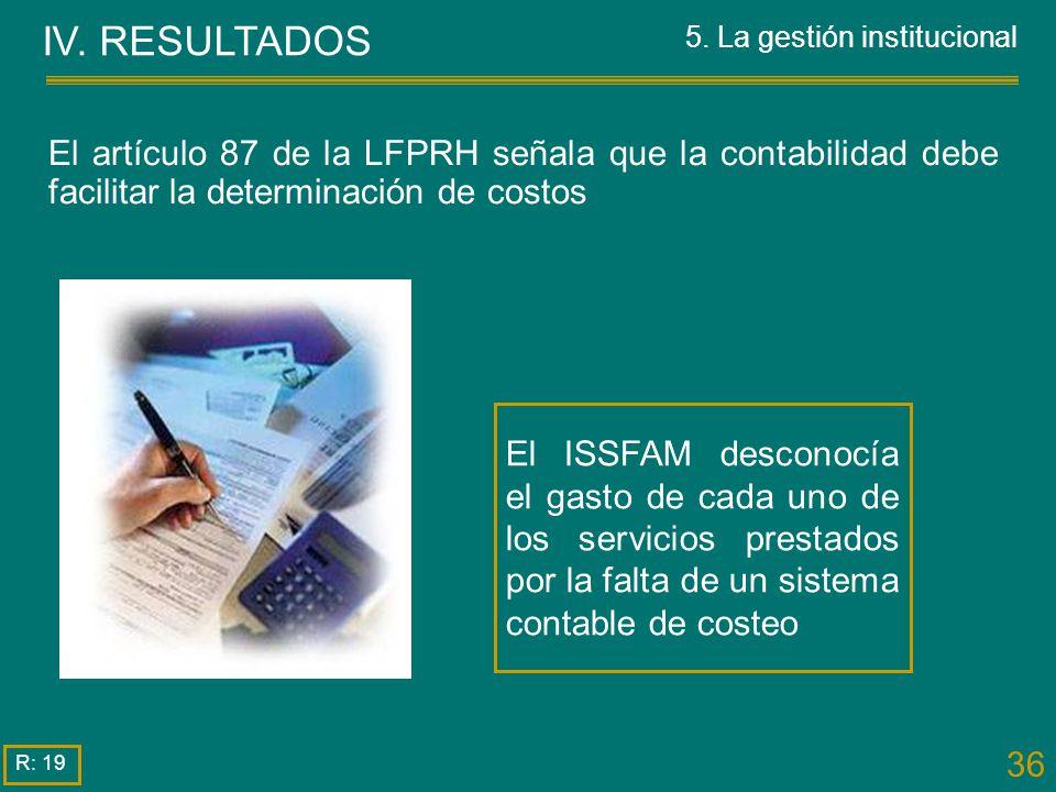 5. La gestión institucional