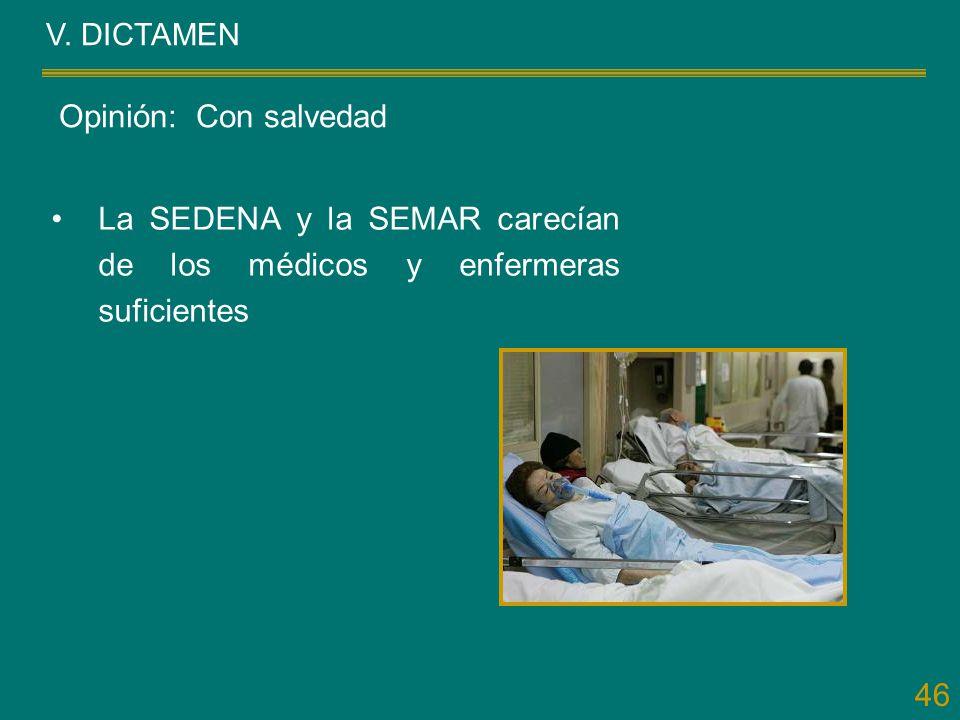 La SEDENA y la SEMAR carecían de los médicos y enfermeras suficientes