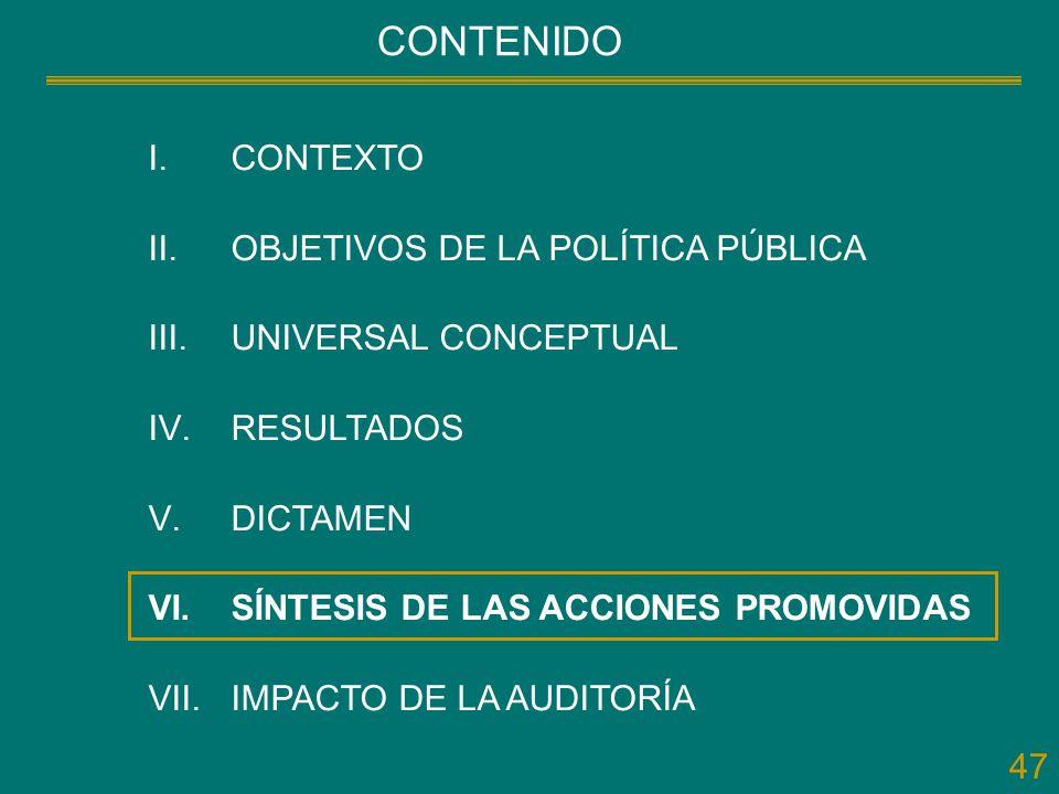 CONTENIDO CONTEXTO OBJETIVOS DE LA POLÍTICA PÚBLICA