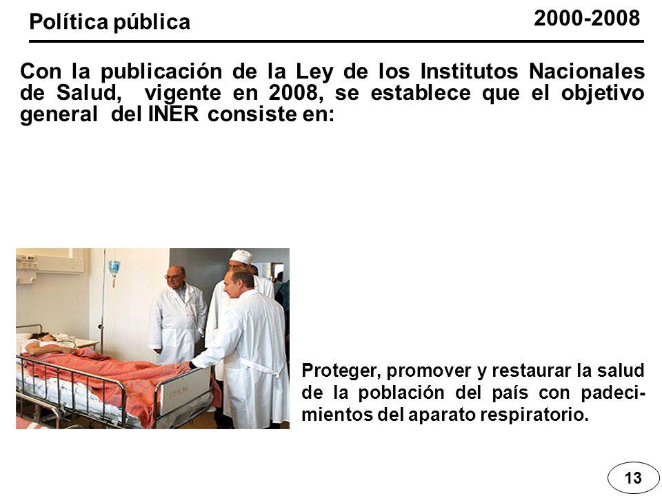 2000-2008 Política pública.