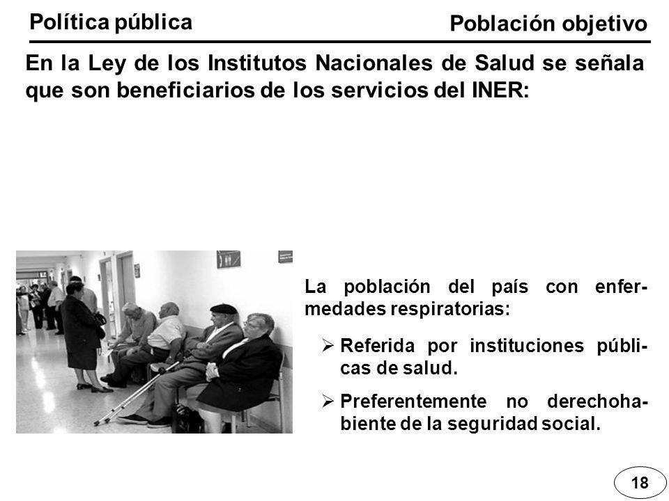 Política pública Población objetivo